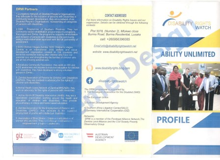 DISABILITY RIGHTS WATCH PROFILE